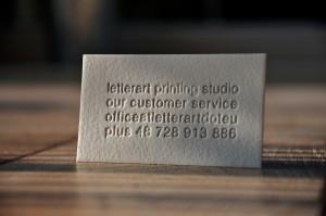 Tag Visitenkarten Bedruckt Letterpress By Letterart