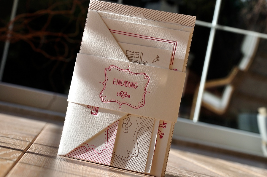 tag » einladungen hochzeit « | letterpress by letterart, Einladungen