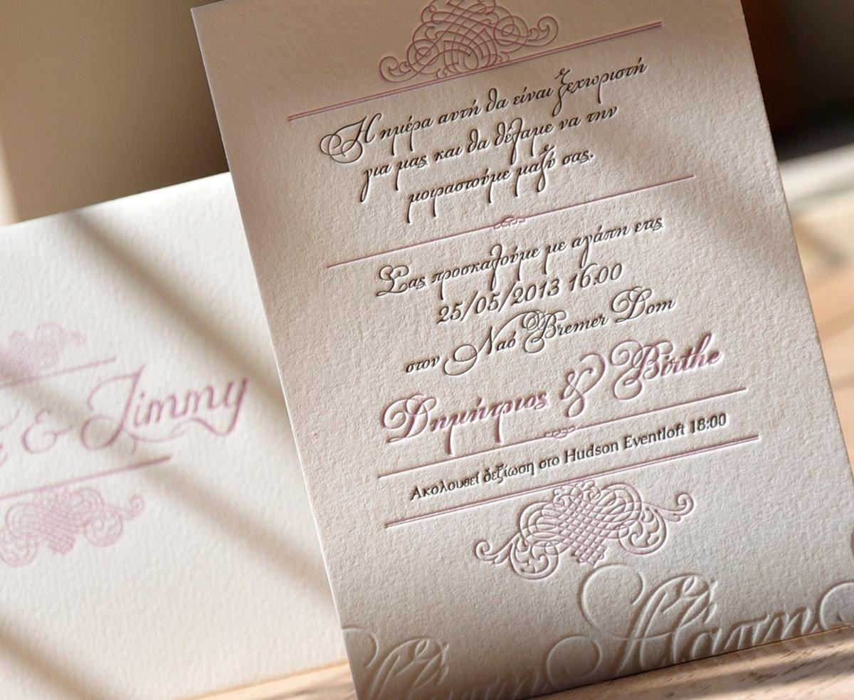 Letterpress Einladungskarten – thegirlsroom.co