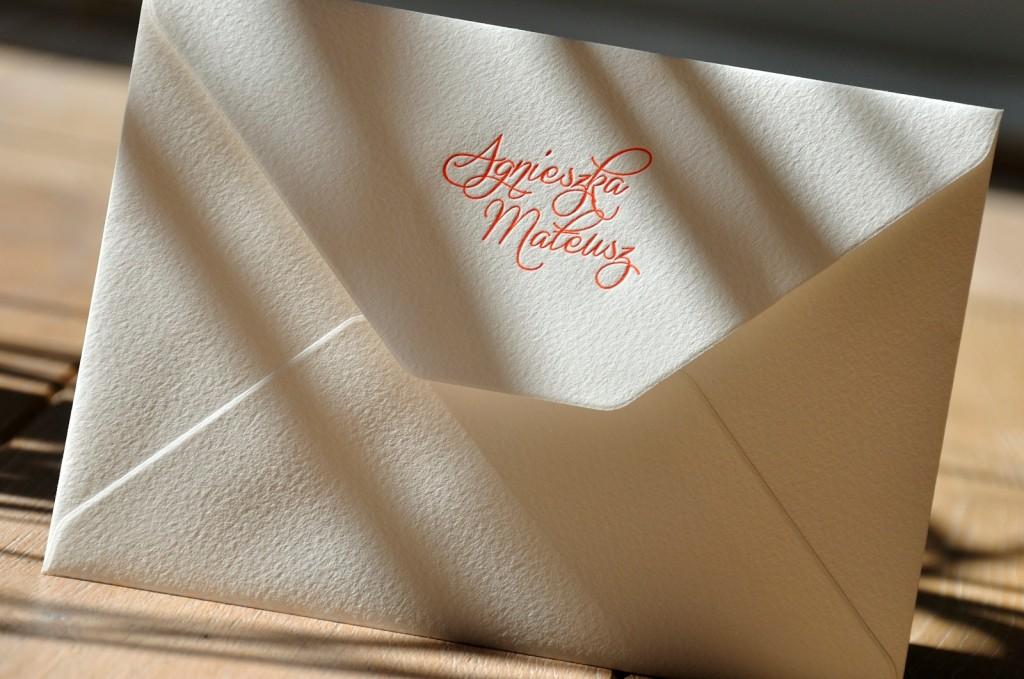 Koperty letterpress