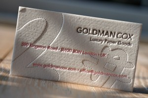 letterpress business card