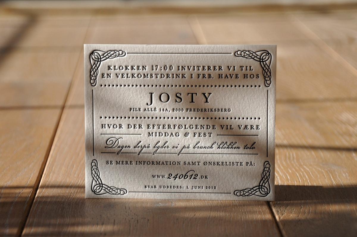 Id 5426 - letterpress by letterart