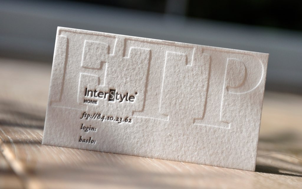 Karta dostepu letterpress