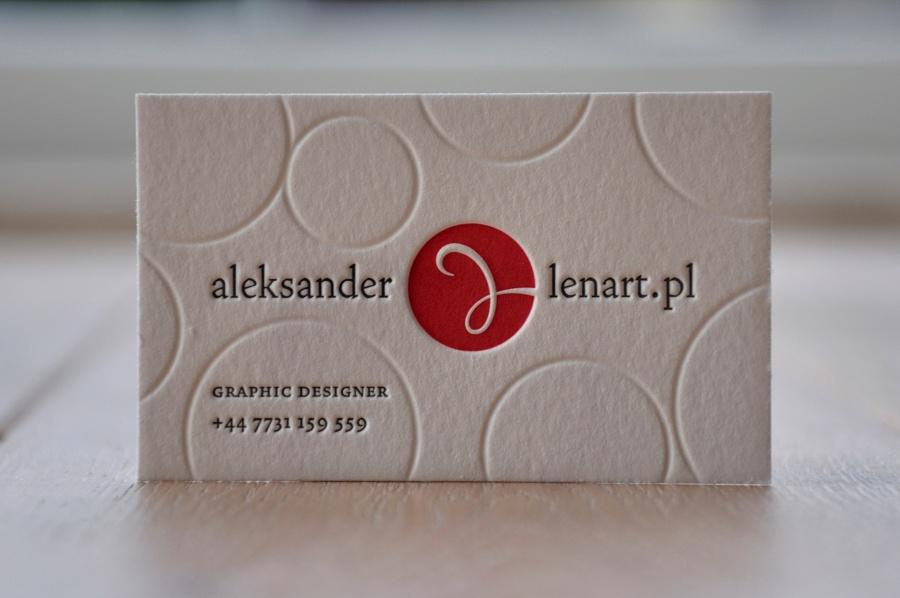 Tag Visitenkarten Letterpress