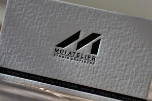 Letterpress letterart printing studio business cards portfolio id 3631 business card 550 gsm ivory 1 ink design marta jwiak moiatelier reheart Image collections