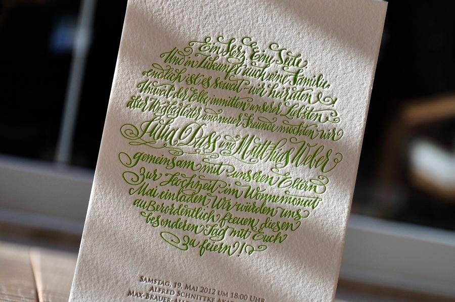 Letterpress letterart printing studio wedding invitations portfolio id 5053 wedding invitation 500 gsm 2 inks customers design stopboris Choice Image